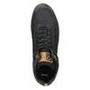 Skórzane trampki męskie za kostkę bata, czarny, 846-6641 - 26