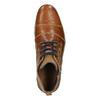Skórzane buty za kostkę zzamkami bata, brązowy, 826-3911 - 26