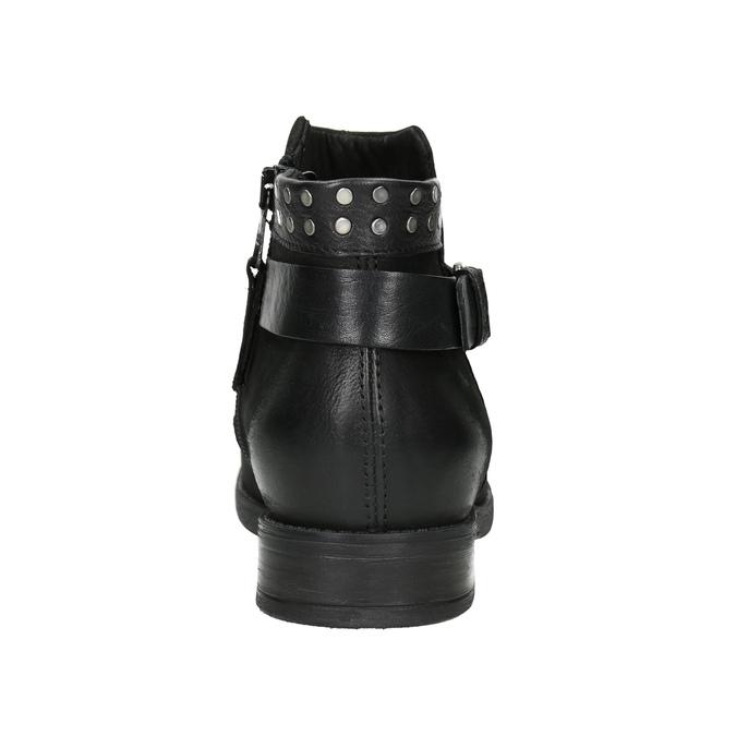 Botki damskie znapami bata, czarny, 596-6658 - 16
