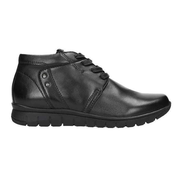 Skórzane botki bata, czarny, 524-6605 - 15