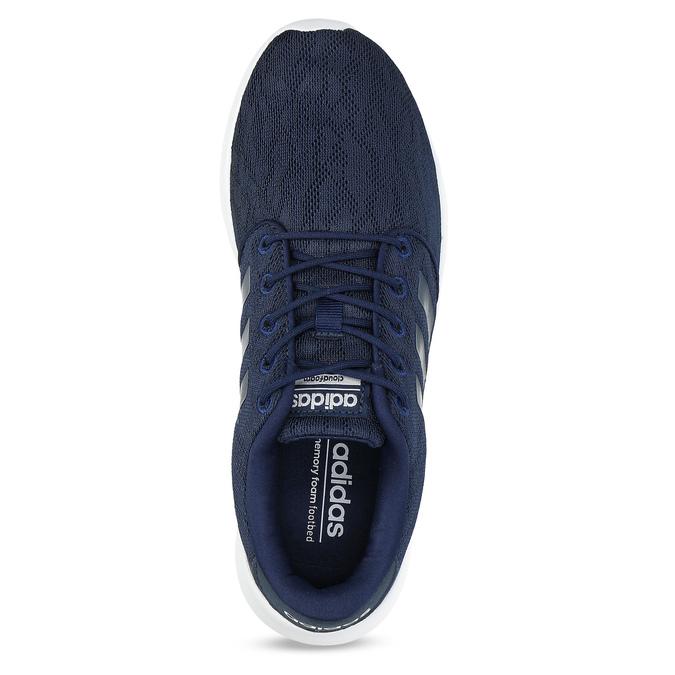 Granatowe trampki wsportowym stylu adidas, niebieski, 509-9112 - 17
