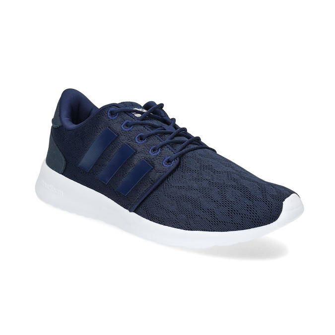 Granatowe trampki wsportowym stylu adidas, niebieski, 509-9112 - 13