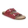 Skórzane kapcie damskie de-fonseca, czerwony, 573-4621 - 13