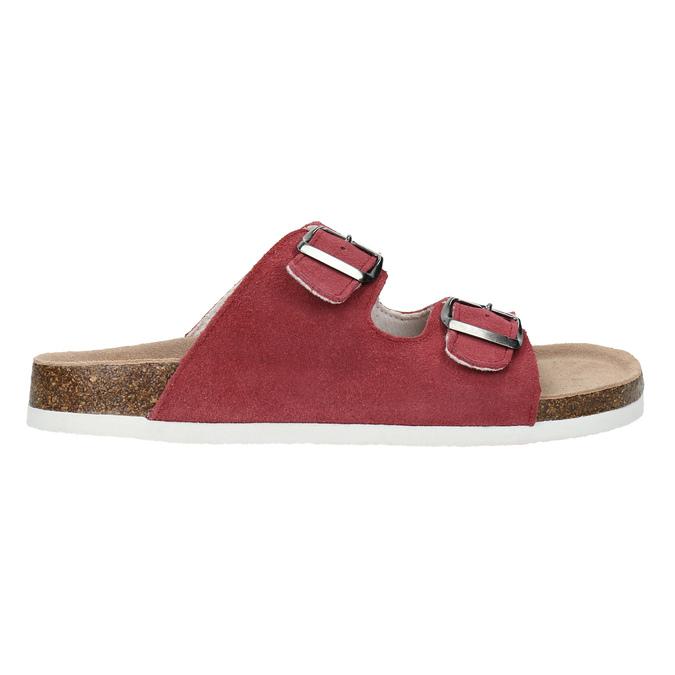 Skórzane kapcie damskie de-fonseca, czerwony, 573-4621 - 15
