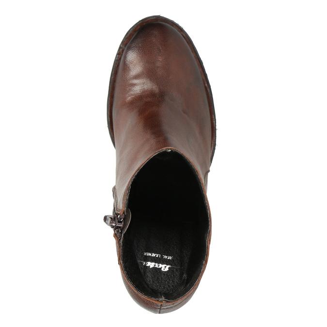 Skórzane botki bata, brązowy, 696-4626 - 26