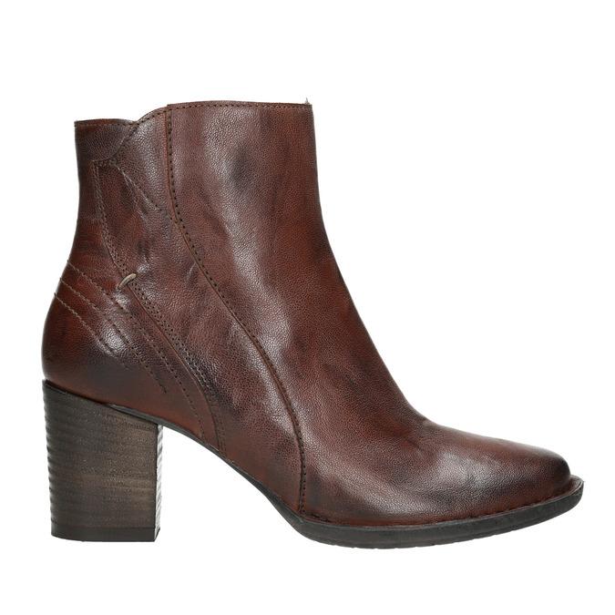 Skórzane botki bata, brązowy, 696-4626 - 15