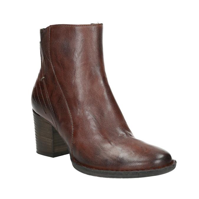 Skórzane botki bata, brązowy, 696-4626 - 13