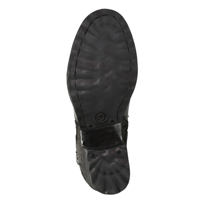 Skórzane botki damskie bata, szary, 696-2627 - 19