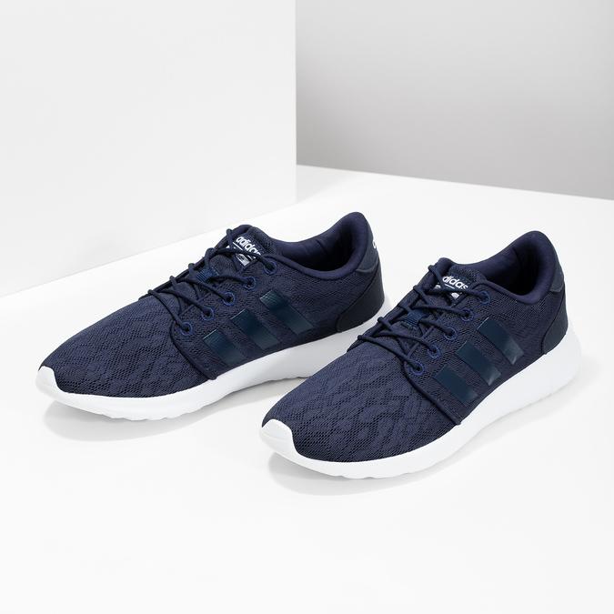 Granatowe trampki wsportowym stylu adidas, niebieski, 509-9112 - 16