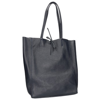 Skórzana torba damska wstylu shopper bata, niebieski, 964-9122 - 13
