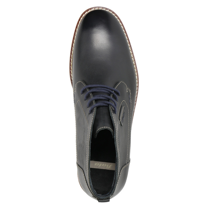 Obuwie męskie za kostkę, zprzeszyciami bata, czarny, 826-6614 - 19