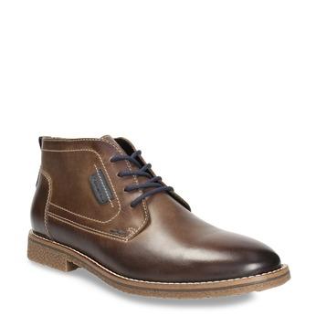 Skórzane buty męskie za kostkę bata, brązowy, 826-4614 - 13