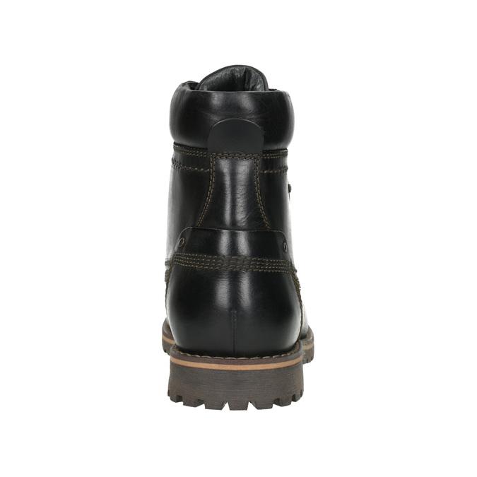Męskie buty zimowe bata, czarny, 896-6640 - 16
