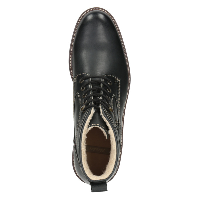 Skórzane buty zimowe bata, czarny, 894-6642 - 15
