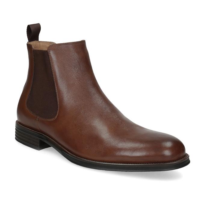 Brązowe skórzane obuwie typu chelsea bata, brązowy, 896-3400 - 13