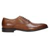 Skórzane półbuty typu oksfordy ze zdobieniami bata, brązowy, 826-3690 - 15