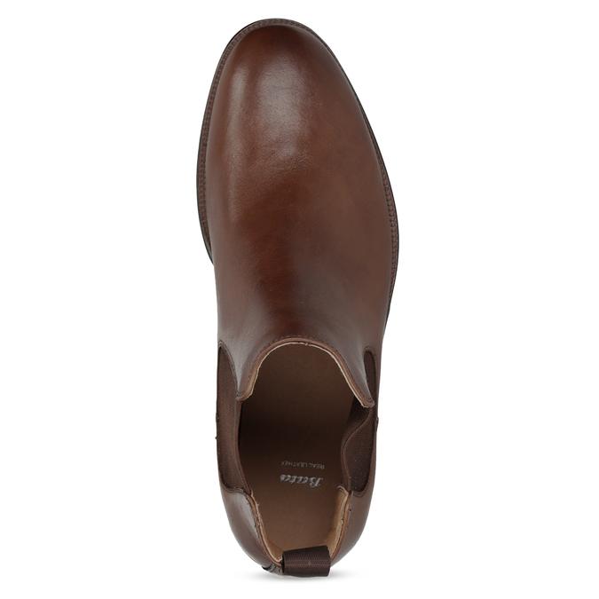 Brązowe skórzane obuwie typu chelsea bata, brązowy, 896-3400 - 17