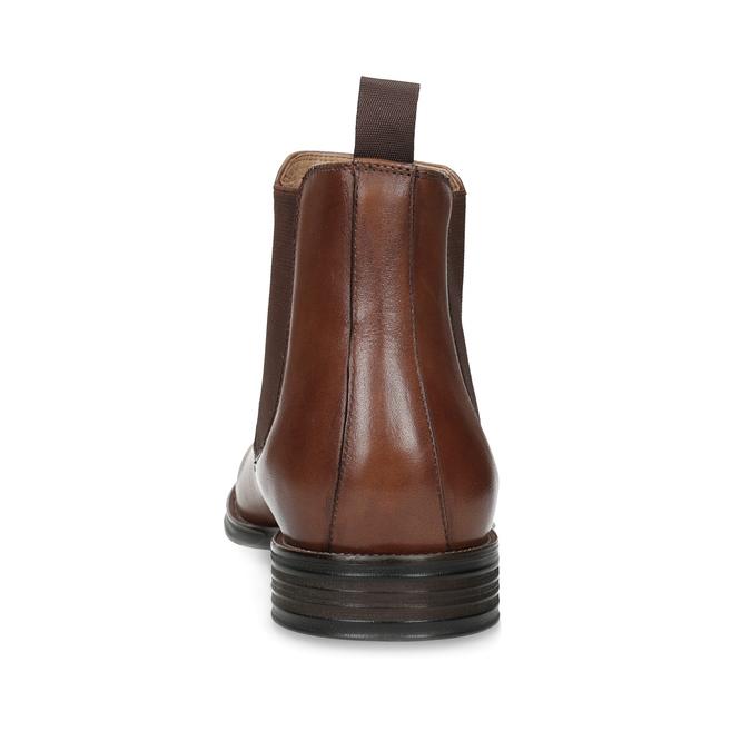Brązowe skórzane obuwie typu chelsea bata, brązowy, 896-3400 - 15