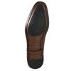Skórzane półbuty typu oksfordy ze zdobieniami bata, brązowy, 826-3690 - 19