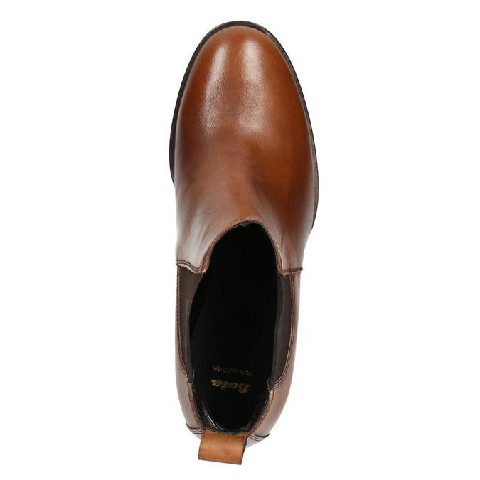 Skórzane botki na obcasach bata, brązowy, 694-4641 - 26