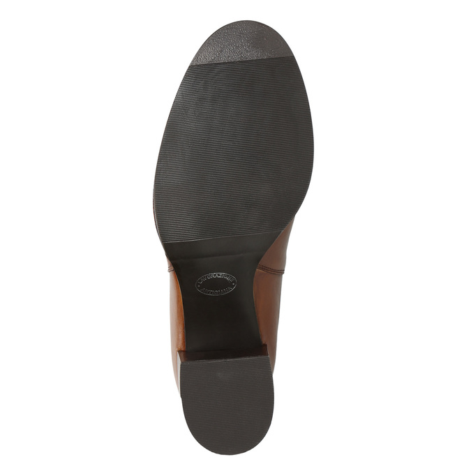 Skórzane botki na obcasach bata, brązowy, 694-4641 - 19