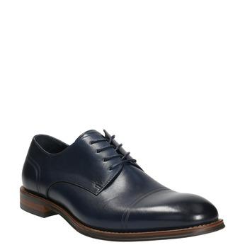 Niebieskie nieformalne półbuty ze skóry bata, niebieski, 826-9681 - 13