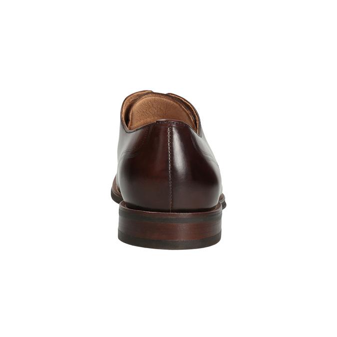 Brązowe skórzane półbuty męskie bata, brązowy, 826-4681 - 15