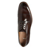 Brązowe skórzane półbuty męskie bata, brązowy, 826-4681 - 26