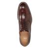 Brązowe skórzane półbuty męskie bata, brązowy, 826-4681 - 17