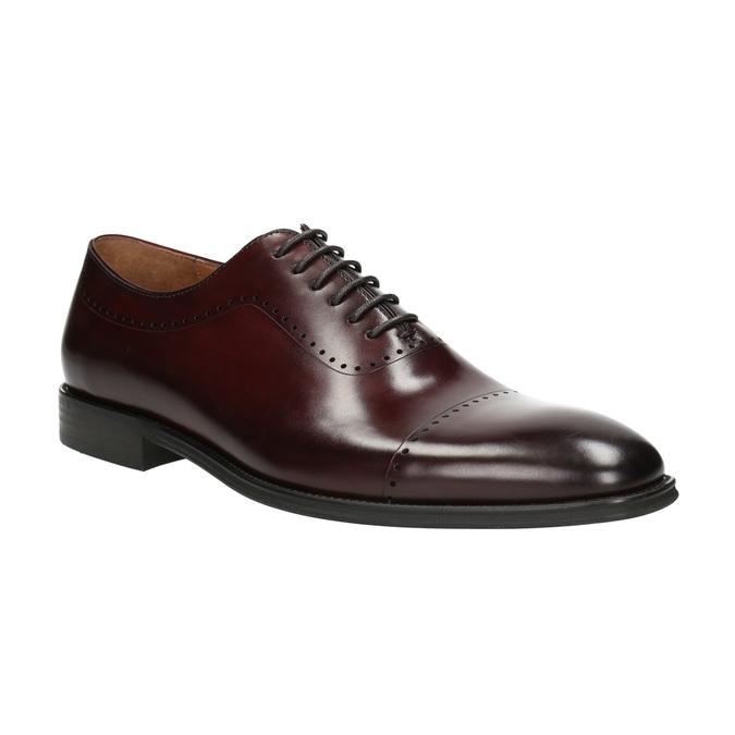 Skórzane półbuty męskie typu oksfordy bata, czerwony, 826-5683 - 13