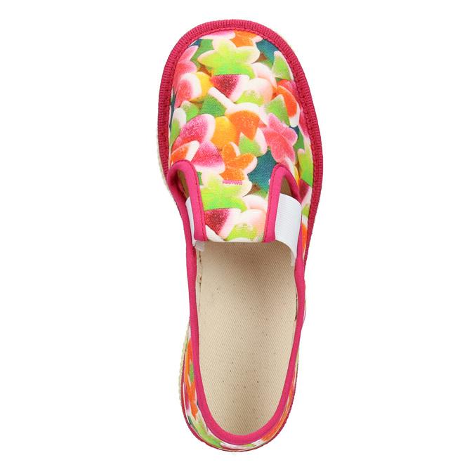 Kapcie dziewczęce wdeseń bata, różowy, 279-5122 - 15