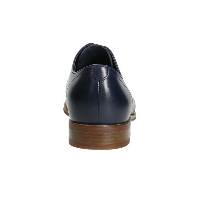 Niebieskie skórzane półbuty bata, niebieski, 826-9680 - 17