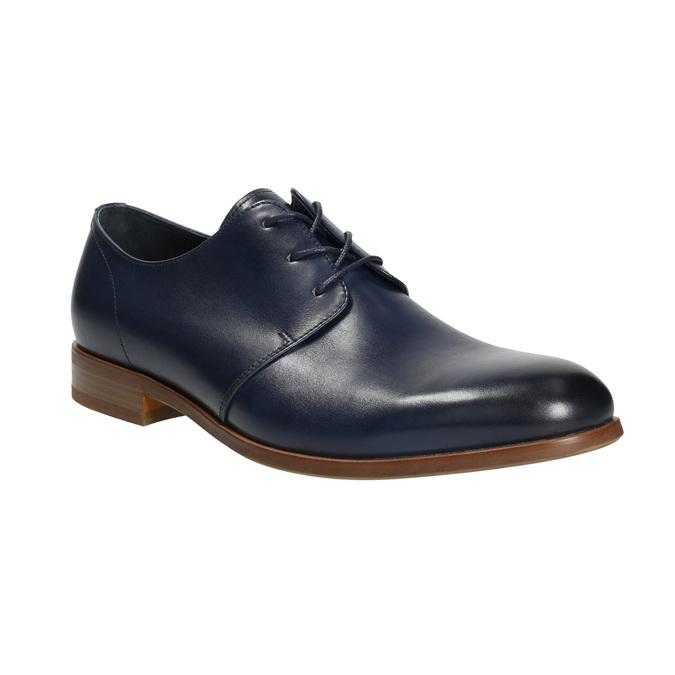 Niebieskie skórzane półbuty bata, niebieski, 826-9680 - 13