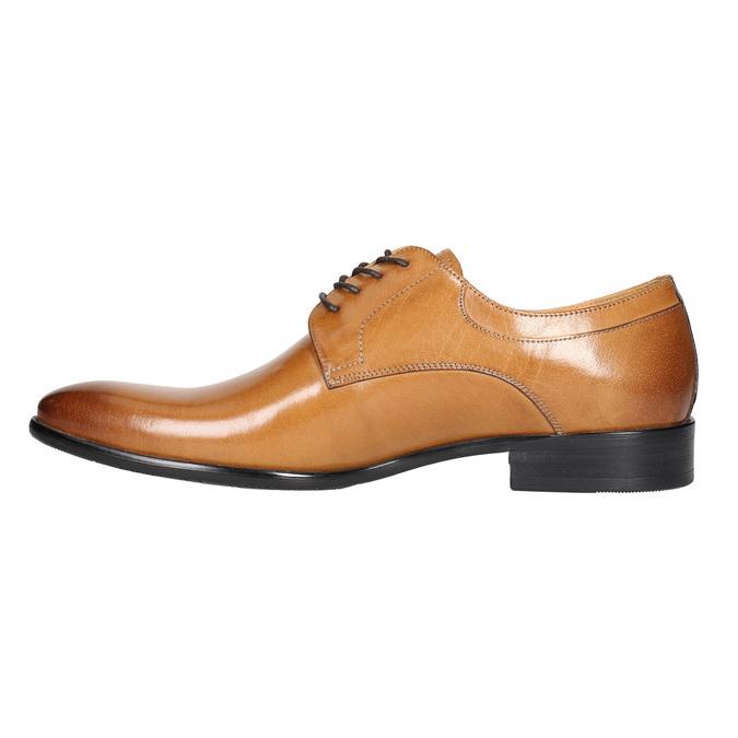 Skórzane półbuty męskie zefektem ombré bata, brązowy, 824-3233 - 26