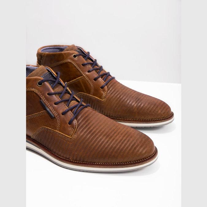 Nieformalne skórzane obuwie za kostkę bata, brązowy, 826-3912 - 18