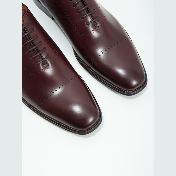 Skórzane półbuty męskie typu oksfordy bata, czerwony, 826-5683 - 14