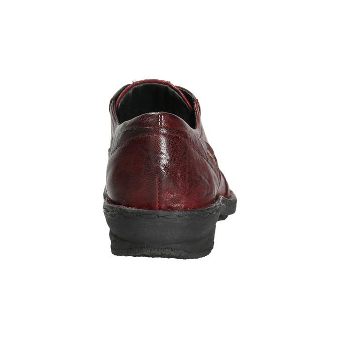 Skórzane półbuty damskie bata, czerwony, 526-5640 - 17