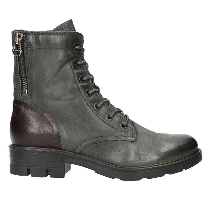 Skórzane buty damskie bata, szary, 596-2616 - 26