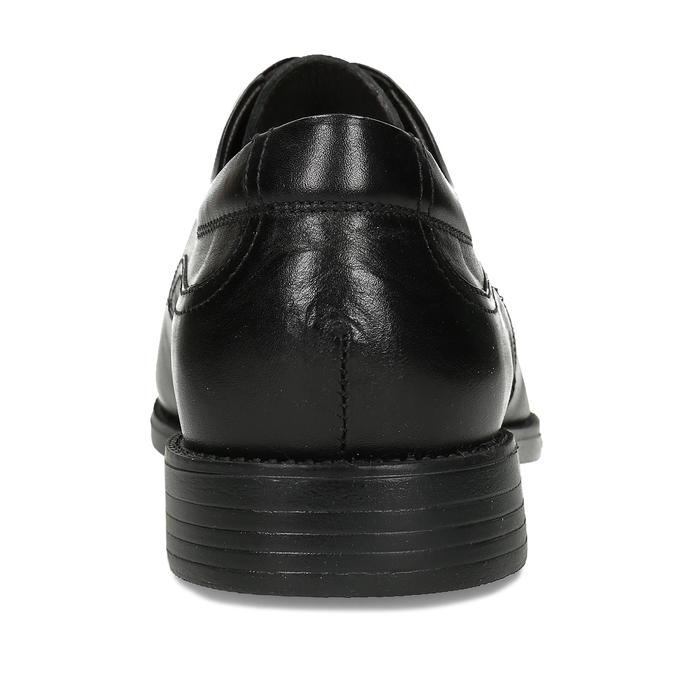 Czarne skórzane półbuty męskie fluchos, czarny, 824-6440 - 15