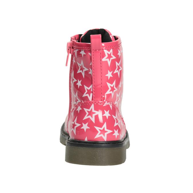 Sznurowane buty dziewczęce w gwiazdki mini-b, różowy, 291-5167 - 16