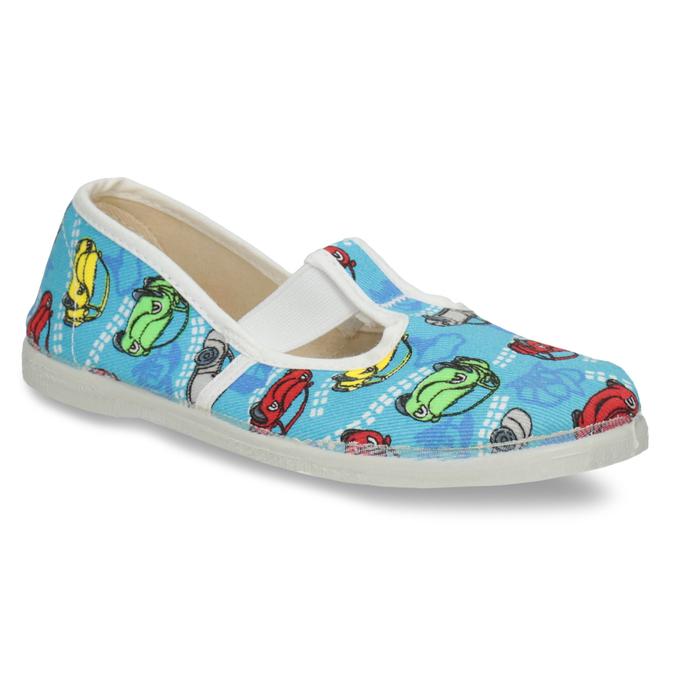 Domowe buty dziecięce w auta bata, niebieski, 279-9105 - 13