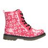 Sznurowane buty dziewczęce w gwiazdki mini-b, różowy, 291-5167 - 26