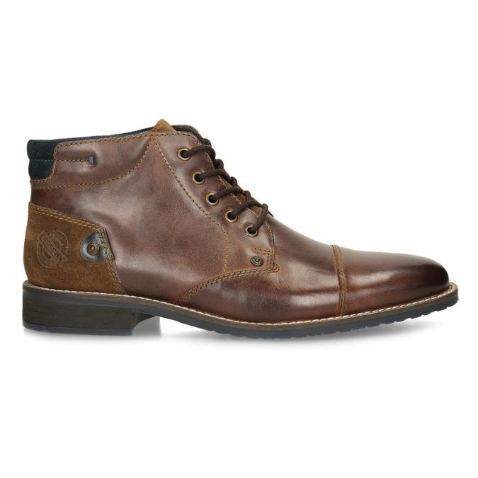 Skórzane buty męskie za kostkę bata, brązowy, 826-3611 - 19