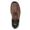 Brązowe nieformalne półbuty ze skóry bata, brązowy, 826-4918 - 17