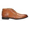 Skórzane buty męskie zefektem ombré bata, brązowy, 826-3913 - 15
