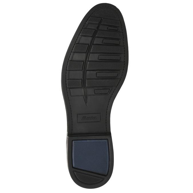 Skórzane buty męskie zefektem ombré bata, brązowy, 826-3913 - 19