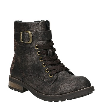 Zimowe buty dziecięce zhaftem mini-b, brązowy, 391-8654 - 13