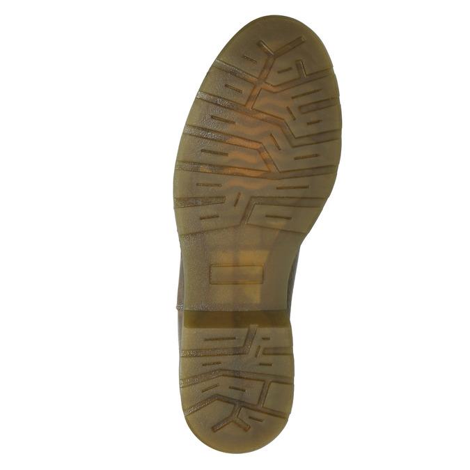 Skórzane botki damskie typu chelsea bata, brązowy, 596-7680 - 17