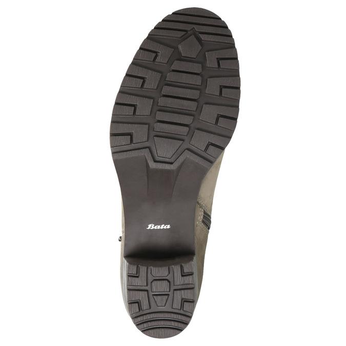 Skórzane botki zklamrami bata, beżowy, 696-2621 - 26