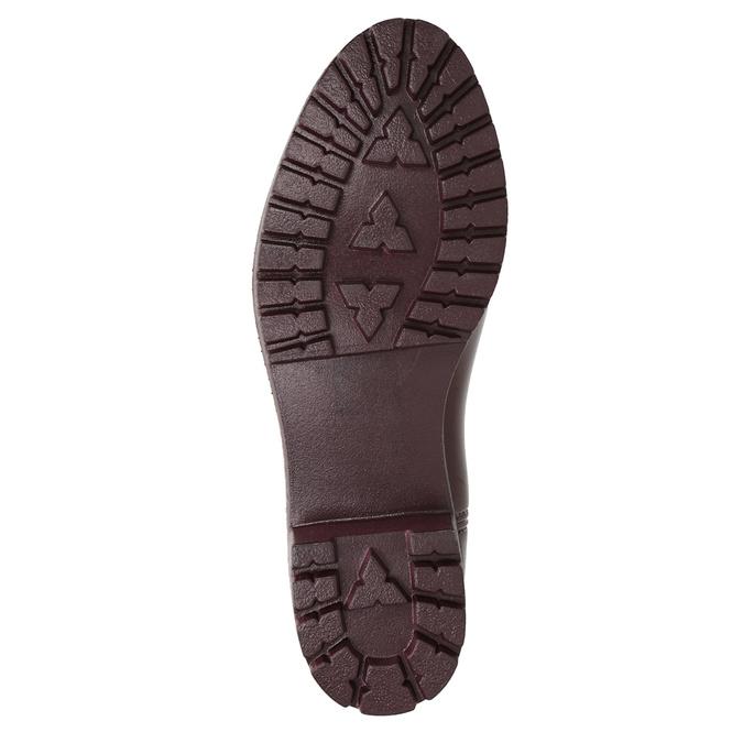 Kalosze damskie za kostkę bata, czerwony, 592-5400 - 17